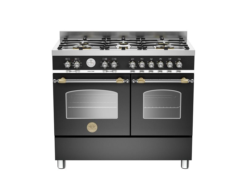100 cm 6-burner electric double oven | Bertazzoni - Matt Black