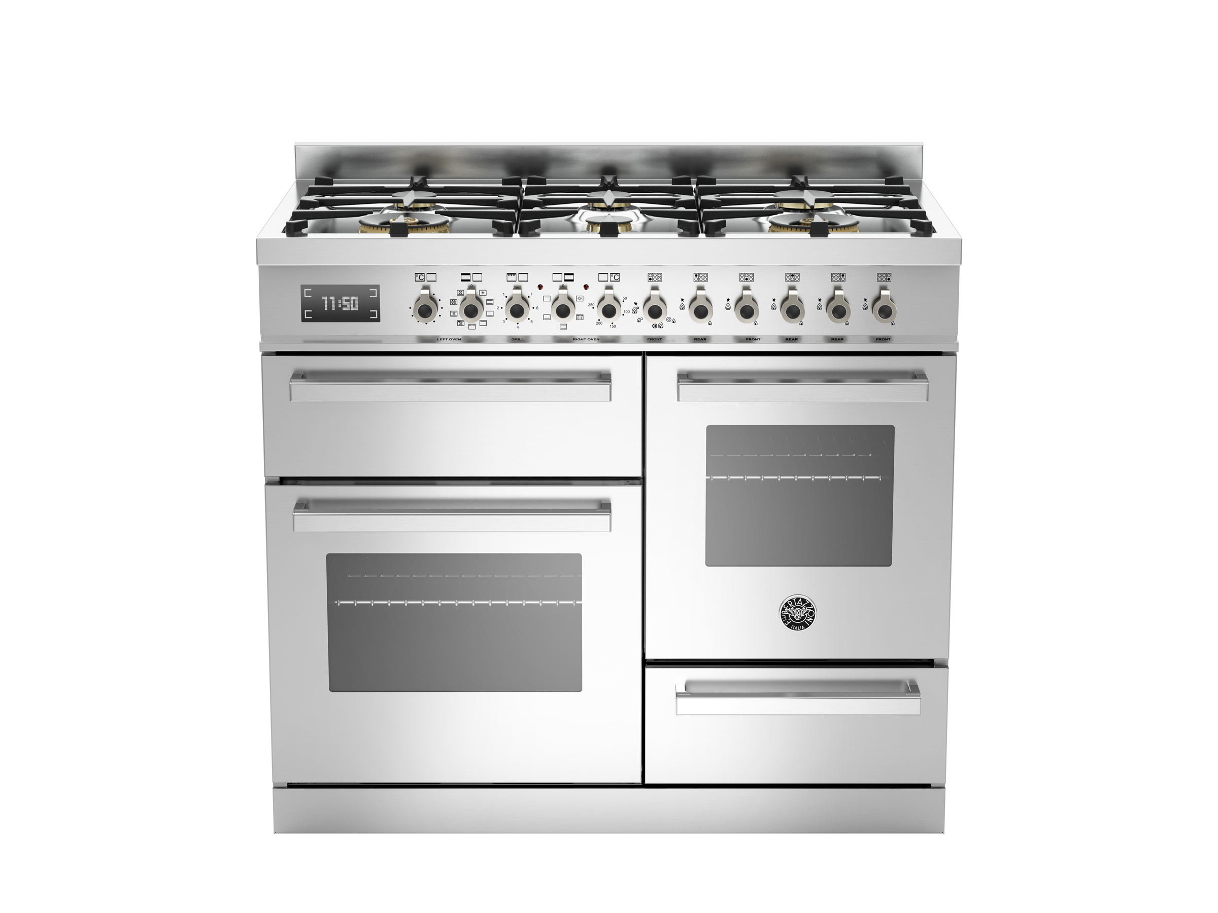 100 cm 6-burner electric triple oven | Bertazzoni - Stainless